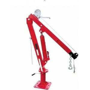 Hydraulic Swivel Crane 900 kg with Cable Winch 360 degree