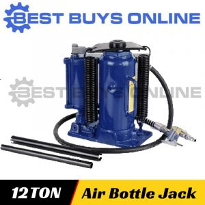 New Hydraulic Bottle Jack Air & Manual Operated 12 Ton Car Truck Lift