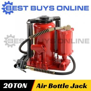 New Air & Manual Hydraulic Bottle Jack 20 Ton Truck Car Caravan Lifting