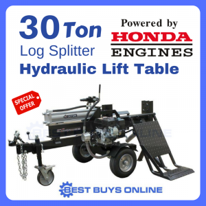 Log Splitter 30 ton honda engine with lift table