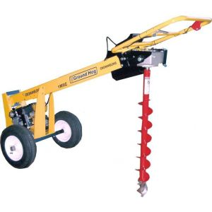 POST HOLE DIGGER One-Man Earth Auger 6 HP Robin Subaru Engine by Groundhog USA
