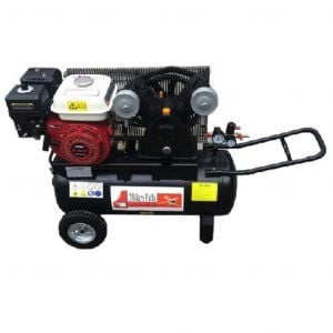 Petrol Air Compressor Portable 6.5 HP 50L tank 13 CFM 115 PSI V type piston