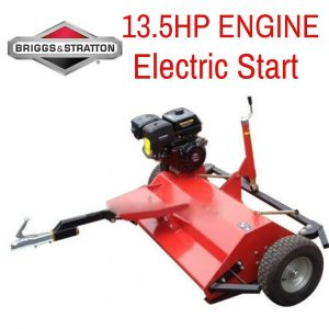 ATV Flail Mower 5FT Briggs & Stratton 13.5 HP Engine w/ Hammer Blades tow behind Quad Bike