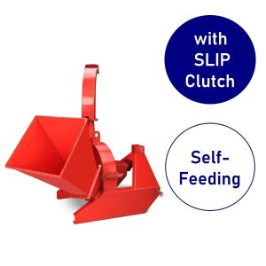 Wood Chipper 4 inch Gravity Feed / Self Feeding suit Tractor PTO with Slip Clutch