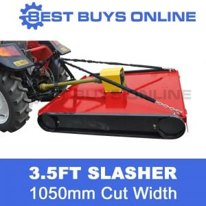 Tractor Slasher 1060 mm Cut 3.5 FT Adjustable Height with Gearbox 5mm Deck