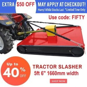 "TRACTOR SLASHER 5 FT 6"" 1660 MM Cut Topper Mower suit 3 Point Linkage"