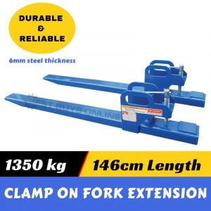 Pallet forks Front End Loader 1350 kg Clamp on fork extensions