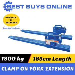 "FRONT END BUCKET CLAMP on FORK EXTENSION TINES 1800KG for Tractor Bobcat Loader ""Best Buys on sale"""
