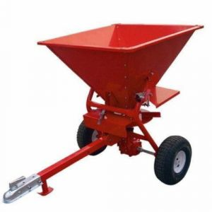 NEW SPREADER FERTILIZER Seed Sand Salt Broadcast 159 Kg tow behind ATV ride on mower