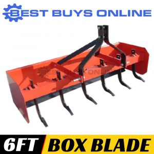 "BOX GRADER BLADE LEVELLING SCRAPER 6FT 6 RIPPERS FOR TRACTOR 3 POINT LINKAGE ""Best Buys on sale"""