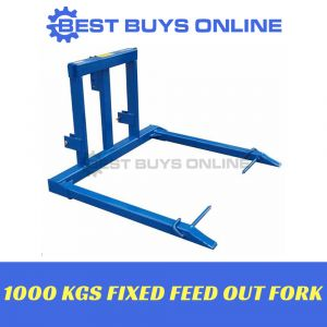 BALE SPEAR HAY SPIKE FIXED FEED OUT FORK TRACTOR 3 POINT LINKAGE 1000 KG / 1 TON CAPACITY