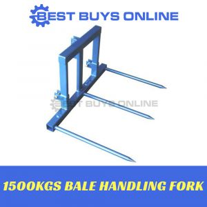 BALE SPEAR 1500KG HANDLING FORK TRACTOR 3 POINT LINKAGE TRACTORS 25HP+ 1500KG