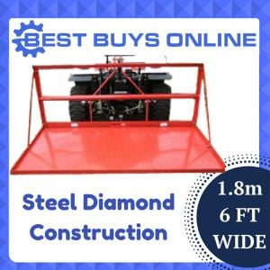 "STEEL DIAMOND PLATED CARRY ALL 6FT 180CM 3 POINT LINKAGE ""Best Buys on sale"""
