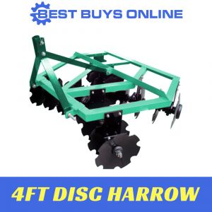 "DISC HARROW CULTIVATOR PLOUGH 4FT Heavy Duty Mounted Suit TRACTOR 15-30HP ""Best Buys on sale"""