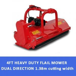 4 FT FLAIL MOWER MULCHER Hydraulic Offset Dual Direction suit Tractor 45HP