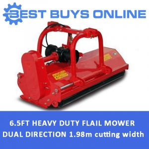 "6 FT 10"" FLAIL MOWER Hydraulic Offset Dual Direction 2 m Cutting Width"