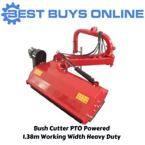 Tractor Bush Cutter Flail Verge Mower Mulcher 4.5 FT 1.4 m Cut Hydraulic Offset