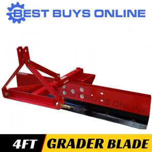 NEW GRADER BLADE 4 FT 120CM suit Tractor 3PL Cat 1, Adjustable Angle