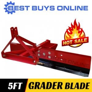 "NEW GRADER BLADE 5FT 150CM TRACTOR 3 POINT LINKAGE ADJUSTABLE ANGLES ""Best Buys on sale"""
