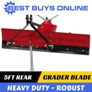 "5FT GRADER BLADE HEAVY DUTY 150CM TRACTOR 3 POINT LINKAGE ADJUSTABLE ANGLE ""Best Buys on sale"""