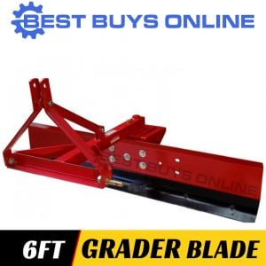 "GRADER BLADE 6FT 180CM TRACTOR 3 POINT LINKAGE ADJUSTABLE ANGLE ""Best Buys on sale"""