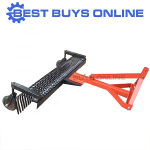 "LANDSCAPE STICK RAKE 7' 210CM WITH LEVELING WHEEL KIT 3PL Tow Behind Tractor ""Best Buys on sale"""