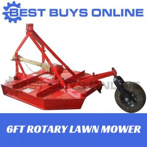 ROTARY LAWN MOWER  6FT 1800MM Working Width Suit Tractor Up To 75HP