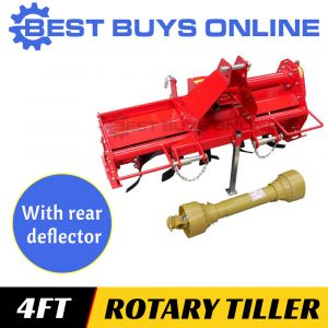 "4FT CULTIVATOR ROTARY HOE TILLER 1250mm 3 Point Linkage Suit Tractor 20HP+ ""Best Buys on sale"""