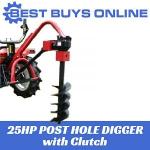"Post Hole Digger with Slip Clutch suit Tractor 25 HP and 6""-12"" Auger"