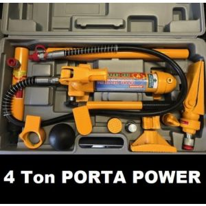 Porta Power Kit 4 Ton in Case Hydraulic Panel Beating Body Frame Repair Tool