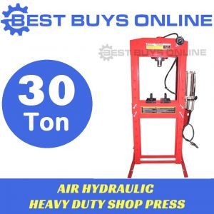 30 Ton SHOP PRESS Air Hydraulic Heavy Duty Steel