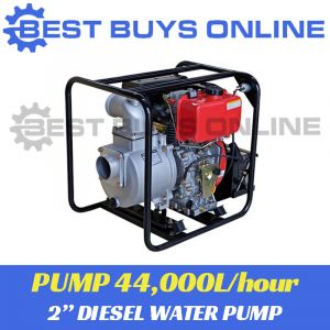 "DIESEL WATER TRANSFER PUMP 2"" ELECTRIC KEY START High Pressure 44,000L/hour ""Best Buys on sale"""