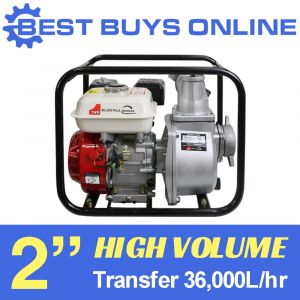 "PETROL WATER TRANSFER PUMP 2"" HIGH PRESSURE 36,000L/hr 4 stroke Engine Fire ""Best Buys on sale"""