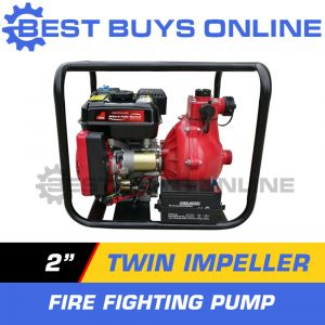 "2"" WATER TRANSFER PUMP TWIN IMPELLER FIRE FIGHTING HIGH FLOW PETROL Best Buys ""Best Buys on sale"""