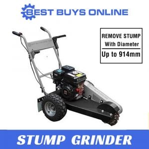 "STUMP GRINDER PETROL Wood Chipper Cutter Mulcher Tree Root Cutting Depth 305mm ""Best Buys on sale"""