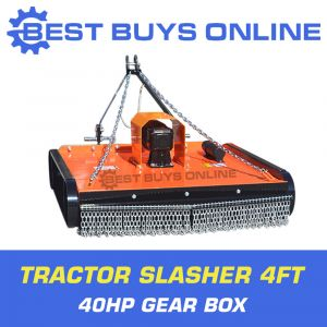 "4FT TRACTOR SLASHER 40HP GEAR BOX 5MM DECK OFFSETTABLE CAT1/2 BEST BUYS ONLINE ""Best Buys on sale"""