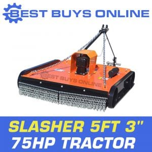 "5FT 3"" SLASHER TRACTOR 75HP 1.5M CUT 60HP GEAR BOX 5MM DECK BEST BUYS ONLINE ""Best Buys on sale"""