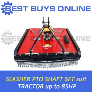 "6FT TRACTOR SLASHER BEST BUYS ONLINE 1.8M CUT suit 85HP TRACTOR 5MM DECK CAT1/2 ""Best Buys on sale"""