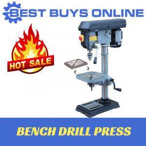 750 W Bench Drill Press 12 Speed MT3 Spindle Taper Tilting Bench Drill Chuck