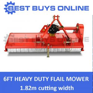 New 6 FT FLAIL MOWER MULCHER HEAVY DUTY TRACTOR 3PL SLASHER