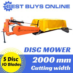 "HAY MOWER 5 DISC MOWER Hay Maker Slasher 2M Working Width Tractor 3PL NEW ""Best Buys on sale"""