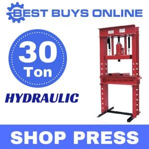 SHOP PRESS 30 Ton Hydraulic Jack Stand Bending Workshop Garage Tool Floor
