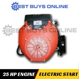 25 HP petrol engine electric start horizontal shaft