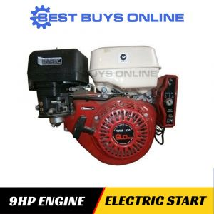 9 HP PETROL ENGINE Electric Start 25 mm Horizontal Shaft replacing motor for Mower Saw Bench Pump