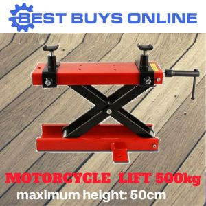 MOTORCYCLE JACK SCISSOR LIFT 500 KG ADJUSTABLE TABLE HEIGHT Hoist Stand ATV
