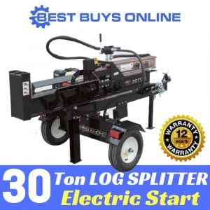 New 30 Ton HYDRAULIC ELECTRIC START LOG SPLITTER-WOOD FIREWOOD BLOCK CUTTER AXE Best Buys on sale