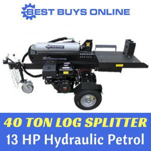 BLACK DIAMOND 40 Ton Log Splitter 13 HP Petrol Wood Splitter Best Buys Online sale