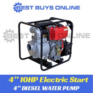 "DIESEL WATER TRANSFER PUMP 10HP HIGH VOLUME 4"" ELECTRIC START 96,000L/hr Best Buys on sale"