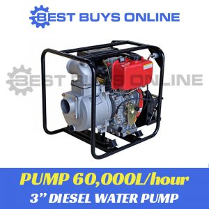 "DIESEL WATER TRANSFER PUMP 3"" ELECTRIC START HIGH VOLUME 60,000L per hour Best Buys on sale"