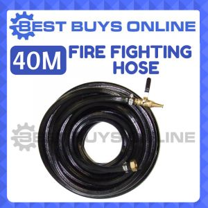 40M FIRE FIGHTING HOSE HIGH PRESSURE for Water Transfer Pump INC BRASS FITTINGS